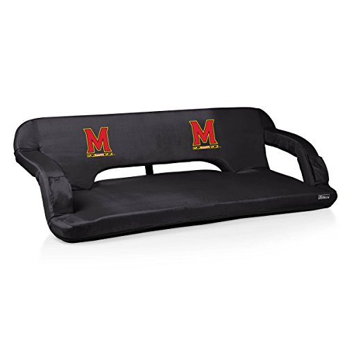 NCAA Maryland Terps Reflex Portable Travel Couch, Black (Travel Reflex Couch)