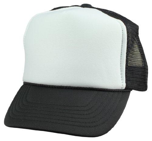 DALIX Youth Cap Trucker Cap in Black and ()