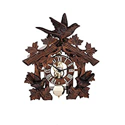 QWIRLY Store: Hermle Manfred Black Forest Mechanical Table Clock with Carved Birds - New Holidays 2018 Model 23028-030721 in Cuckoo Clock Style - Great Decor Item or A Perfect