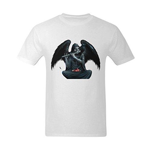 Fashion-In Men's Demon Playing Music Art Design T-Shirt - Hot Topic T Shirt US Size Small -
