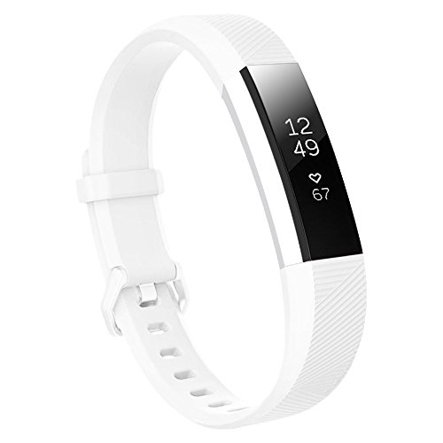 Baaletc Silicone Rubber Replacement Accessory Band/Wristband Bracelet Strap Buckle Compatible Fitbit Alta/HR/Ace Fitness Tracker