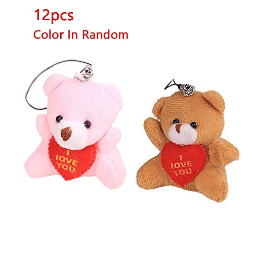 KateDy Cute Cartoon Bear Plush Teddy Bear Doll Plush Doll Joint Bag Hanging Toys,Mobile Phone Pendant Stuffed Animal Key Chain Plush Toy,2
