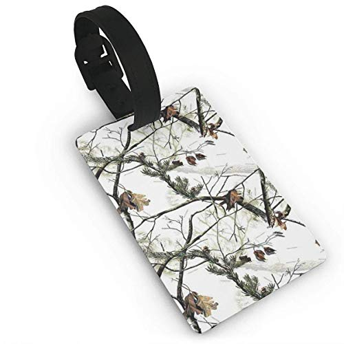 (White Realtree Camo Duffle Bag Tag Luggage Tag Suitcases Label)