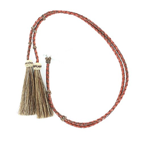 M & F Western Men's Red And Braided Leather With Horsehair Tassels Stampede Tan One Size