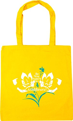 wild litres Yellow 10 Gym Shopping Tote she's Beach a 42cm flower suppose Do HippoWarehouse you Bag x38cm WqZapX4X