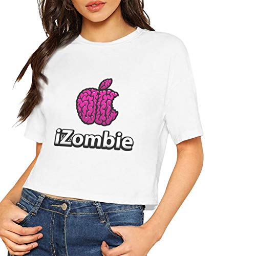 Household-items-Fly-shop IZombie Apple Women's T - Shirt,Women's Cropped Top Leaking Navel T-Shirt