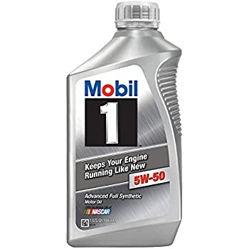 Mobil 1 106035 5W-50 Advanced Full Synthetic Motor Oil - 1 Quart (Pack of 6)
