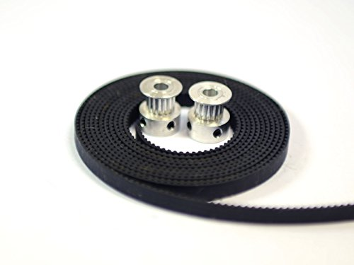 2 x Aluminum GT2 16T Pulley and 2M Belt for RepRap 3D printer Prusa (Fiberglass Part)