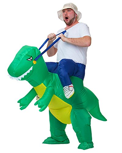 Adult Trex Costumes (Halloween Inflatable Dinosaur Costume by Chorade T-REX Adult Fancy Riding Costumes)