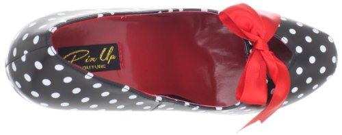 Pinup Couture - zapatos de tacón mujer, color negro, talla 36 (4 UK)