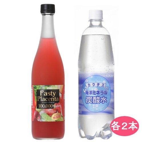 ファスティープラセンタ100,000(フレッシュベリー味)2本+炭酸水2本 B00KLQ6EN0