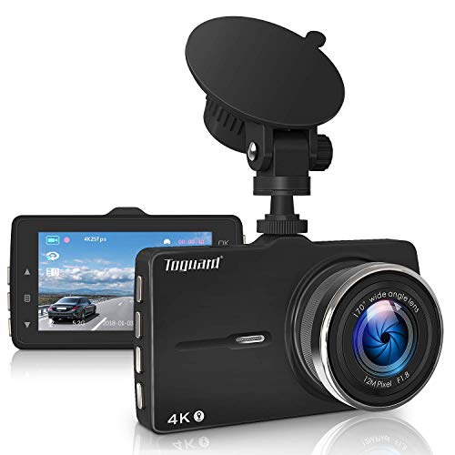 TOGUARD Dash Cam 4K Ultra HD Dash Camera with GPS, Car Driving Recorder with 3 Inch LED Screen, 170°Wide Angle Dashboard Camera, G-Sensor, WDR, Loop Recording,Parking Monitor, Motion Detection (Recorder Car Gps)
