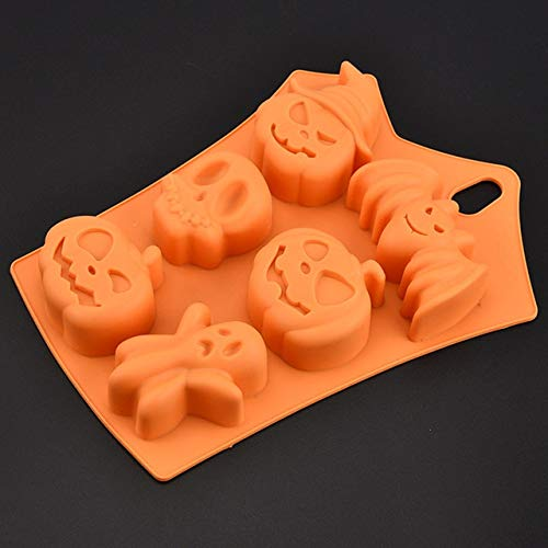 Funny Cake Molds - 6 Design Halloween Silicone Chocolate Mould Pumpkin Ghost Bat Shape Diy Cake Decorating Tool Funny Mold - Clay Sculpture Modeling Moulding Mildew Allhallow - 1PCs]()