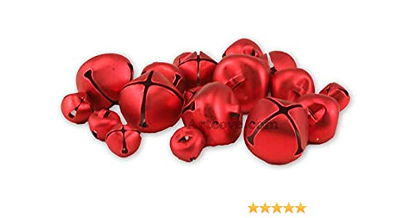 19 bells Holiday Jingle Bells Red Assorted Sizes