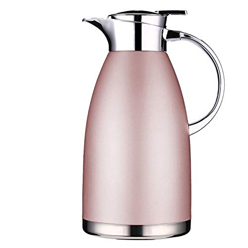 - Jueqi Thermo Jug Thermal Carafes Stainless Steel 64 Ounce Large Travel Bottle Vacuum Insulated,Pink 2.3l