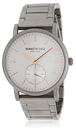 - Kenneth Cole New York Men's Analog-Quartz Watch with Stainless-Steel Strap, Silver, 22 (Model: KC50066002)