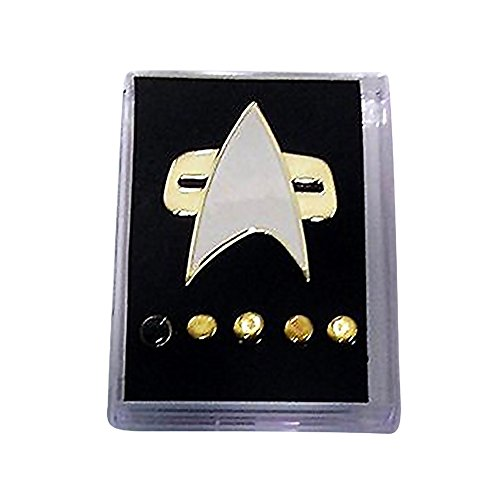 Star Trek Voyager Communicator Badge Pin Rank Pip Brooch