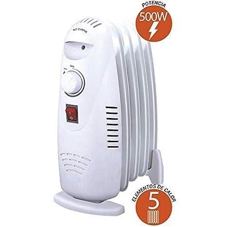 Thulos TH-RAC501 Mini Radiador de Aceite de 5 Elementos de Calor y 500W de Potencia.: Amazon.es: Hogar