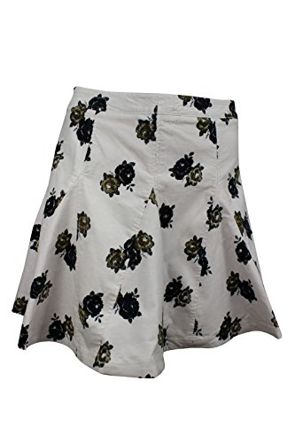 Free-People-Womens-Ivory-Floral-Corduroy-Mini-Godet-Skirt
