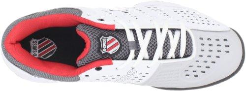 K-SWISS Chaussure de tennis Moquette Indoor Bigshot Light pour Homme, Blanc/Noir/Rouge, 46