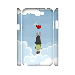 3D Grab a Heart Samsung Galaxy Note 2 Cases, Vety {White}