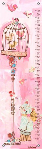 Oopsy Daisy Curious Kitty Winborg Sisters Growth Charts, Pink, 12 X (Oopsy Daisy Collage)