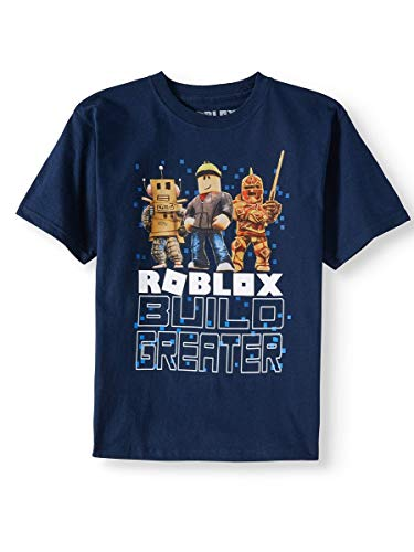 Roblox Build Greater Big and Little Boys T Shirt (XL (14/16))