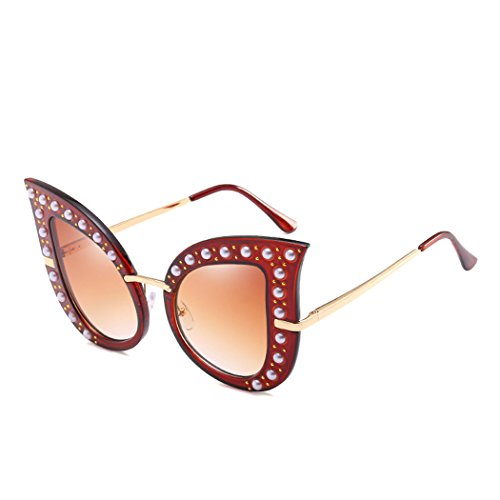 de 2018Brand Vidrios del tama ojo Sun de gafas Horrenz perla de del gran gato manera polarizada las dise mujeres diamante de sol de la de del retro ador 4 Tipo lujo Gafas del o IxRzwq1Az