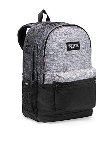 Victoria's Secret PINK Campus Backpack Gray Marl Black Logos by Victoria's Secret