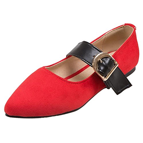 Mary Red Shoes Women's Classic Jane TAOFFEN aw1E6Uqn