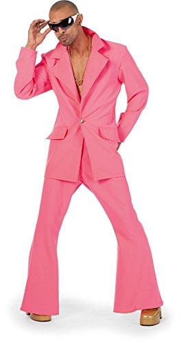 Traje de disco 70er años para hombre, Colour Rosa, 50 - 60 ...