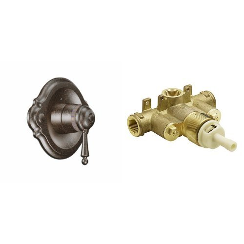 (Moen TS3110ORB-S3371 Waterhill ExactTemp Shower Only with Valve, Oil Rubbed Bronze)