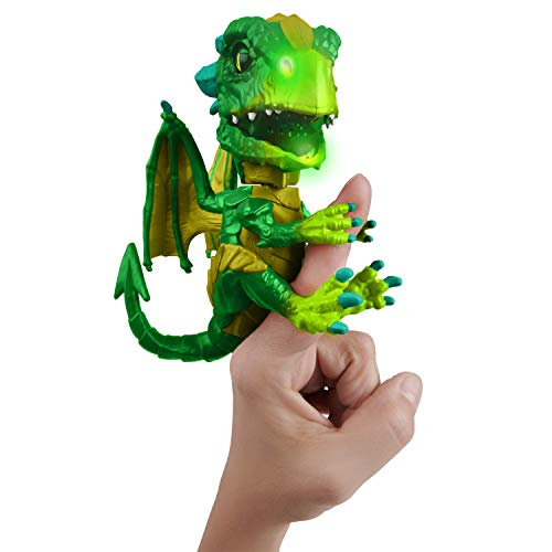 Green Shockwave - WowWee Fingerlings Untamed Dragon – Series 1 – Venom (Green)