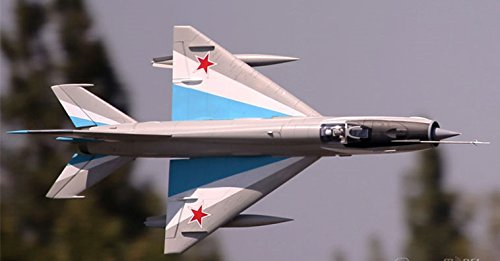 Mig-21 Blue 80mm with 12 Blade EDF Ducted Fan Jet RC Airplane PNP (No Radio, battery, charger)