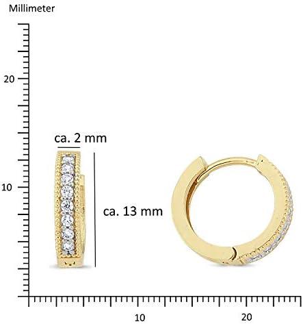 PARGOLD Boucles doreilles pendantes en or jaune 585 14 carats pour femme Id/ée cadeau pour la f/ête des m/ères