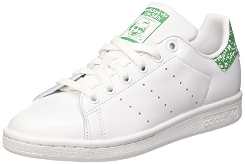 adidas Women's Stan Smith W Low-Top Sneakers White (Footwear White/Footwear White/Green) qybVf