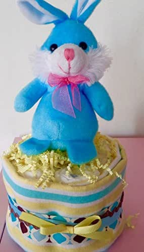 Amazon.com: Blue And Yellow Baby Shower Diaper Cake