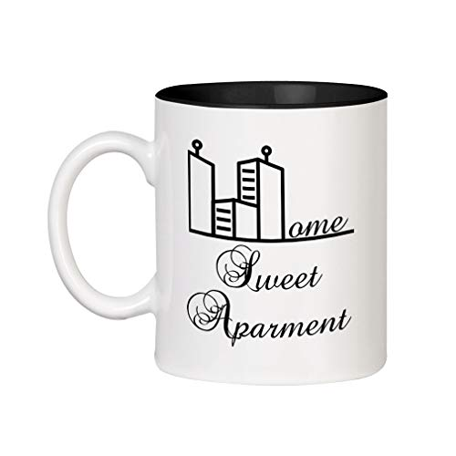 Home Sweet Home Mug - Black Home Sweet Apartment Ceramic Inner Color Cup Coffee Mug - Black
