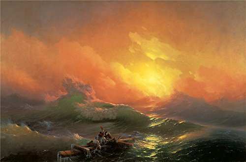 oil-painting-aivazovsky-ivan-1850-the-ninth-wave-state-russian-museum-8-x-12-inch-20-x-31-cm-on-high