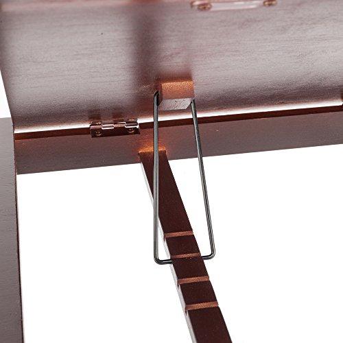 Tenozek Retro Plain Design Adjustable Bamboo Lap Desk Tray Dark Coffee by Tenozek (Image #3)