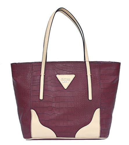 Guess Handbag Croco Embossed Mignon Shoulder Bag Purse For Women
