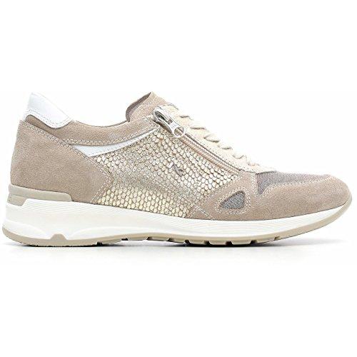 Nero Giardini Sneaker Damen Leder/Wildleder/Stoff, Frühjahr/Sommer p615094d–�?02 Velour Ivory