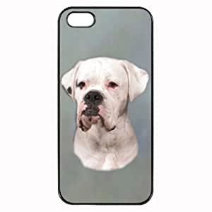 Custom Boxer White Dog Hard Case Clip on Back Cover for iPhone 4 & 4S Mobile Phone