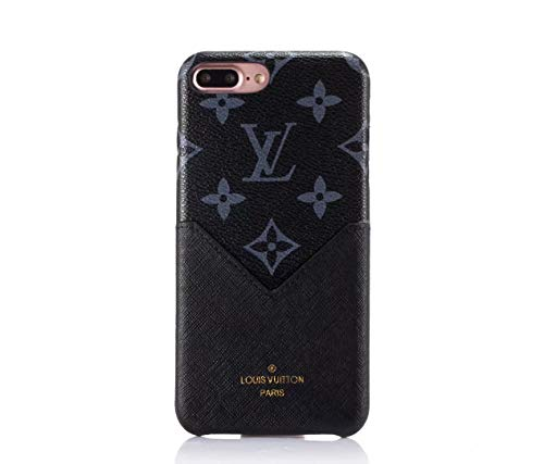 Phone case for iPhone Xs Max Case, Elegant Vogue Luxury Designer PU Leather Heart Slim Fit Shockproof with Card Slot Cover Case for iPhone Xs Max -Classic Blue