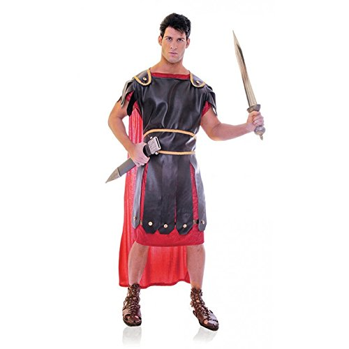 Roman Soldier Adult Mens Plus Size Costumes (Underwraps Men's Plus-Size Centurion, Black/Red/Gold, XX-Large)
