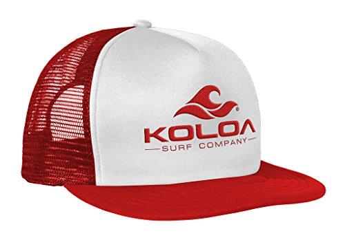 6fe1b4bcb4b Joe s USA Koloa Surf(TM) Mesh Back Wave Logo Trucker Hat In Red White Red  Logo - Buy Online in KSA. Apparel products in Saudi Arabia.