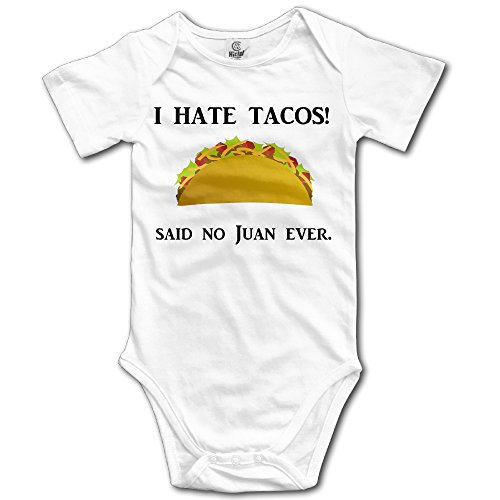 Baby Boys' And Girl's Bodysuits I Hate Tacos Mexico