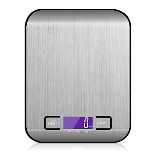 (The perseids Digital Kitchen Scale Stainless Steel Design Electronic Weighing Instrument Precise Measuring Scale Ultra Small (Including Battery))