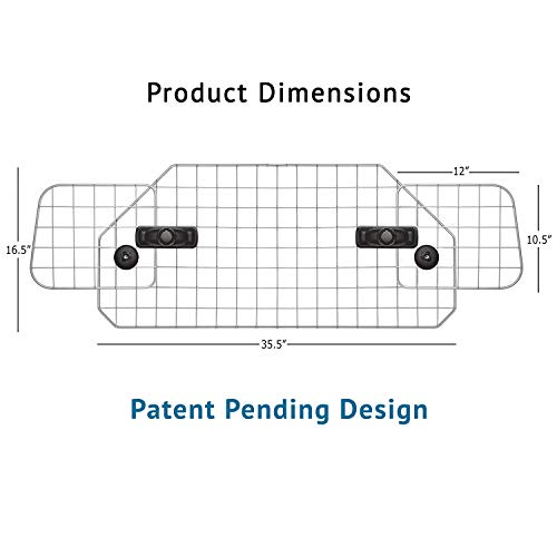 Dog Barrier for SUV's, Cars & Vehicles, Heavy-Duty - Adjustable Pet Barrier, Universal Fit by Jumbl Pet (Image #1)