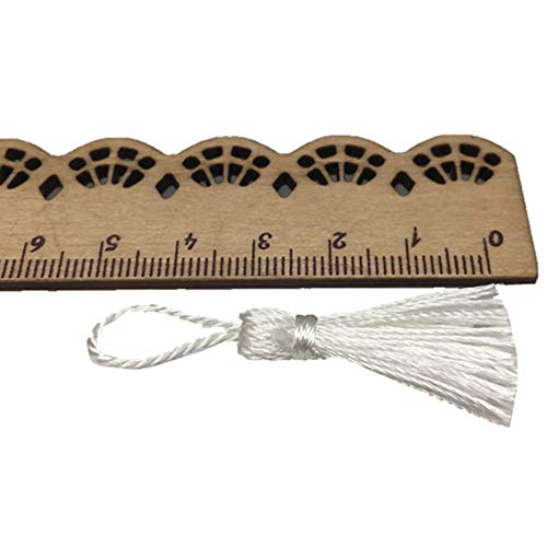 OZXCHIXU(TM) 20PCS Mini Mini Fiber Tassel 2 Inch DIY Craft Accessory (White) ()